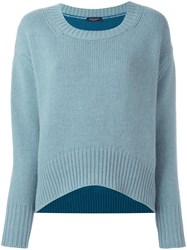 Roberto Collina Colour Block Long Sleeve Sweater Blue