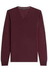 Baldessarini Virgin Wool Pullover Red