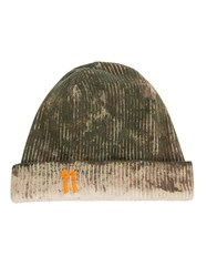 11 By Boris Bidjan Saberi Distressed Ribbed Beanie Multicolour