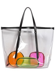 Dsquared Pvc Tote Bag And 3 Pouches Transparent Bla