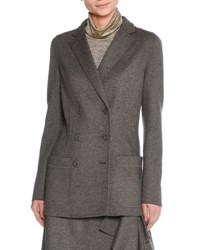 Tomas Maier Felted Wool Double Breasted Blazer Dark Gray