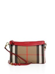 Burberry Plaid Mini Crossbody Bag Russet Red
