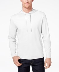 Club Room Men's Jersey Hooded Shirt Created For Macy's Bright White
