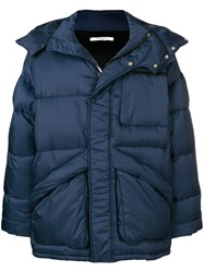 Givenchy Hooded Puffer Jacket Blue