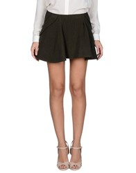 Theyskens' Theory Skirts Mini Skirts Women Military Green