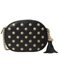 Michael Kors Ginny Studded Medium Messenger Black
