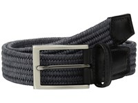 Torino Leather Co. 35Mm Italian Flat Strand Braided Elastic Rayon Grey Belts Gray