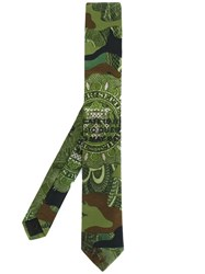 Givenchy Camouflage Print Tie Green