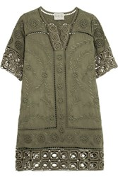 Sea Broderie Anglaise Tencel Dress Army Green