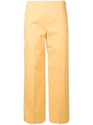 Theory Cropped Trousers Yellow