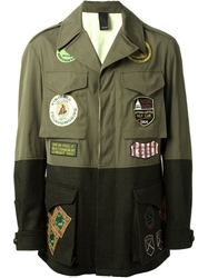 People 'Fish' Military Coat Green