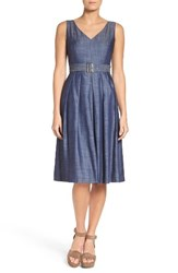 Ivanka Trump Women's Chambray Midi Dress