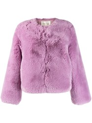 Stine Goya Faux Fur Jacket Pink