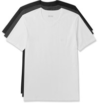 Hugo Boss Bo Three Pack Cotton Jerey T Hirt White