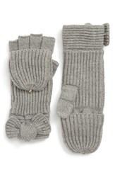 Kate Spade New York Bow Convertible Mittens Heather Gray