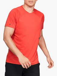 Under Armour Rush Short Sleeve Training Top Martian Red