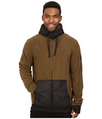 686 Icon Polar Zip Fleece Hoodie Olive Men's Sweatshirt