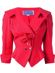 Thierry Mugler Vintage Skirt And Jacket Suit Red