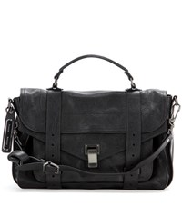 Proenza Schouler Ps1 Medium Leather Tote Black