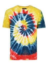 Antioch Multi Tie Dye Embroidered T Shirt