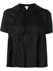 Comme Des Gara Ons Comme Des Gara Ons Round Collar Ruffled Blouse Black