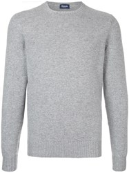 Drumohr Crew Neck Sweater Cashmere Grey