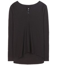 Velvet Fiana Cotton T Shirt Black