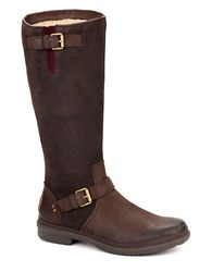 Thomsen Uggpure Mid Calf Leather Boots Brown