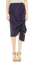 Clu Skirt With Tie Detail Indigo