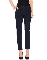 M.Grifoni Denim Trousers Casual Trousers Women Dark Blue