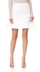 Cushnie Et Ochs Fit And Flare Skirt White