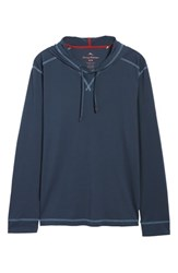 Tommy Bahama Big And Tall Bali Skyline Hooded Pullover Blue Note