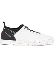 Hogan Rebel Paint Splatter Pattern Sneakers White