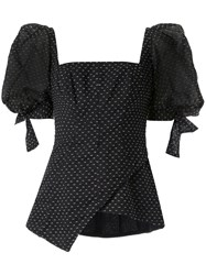 Rachel Gilbert Loni Puff Sleeve Top Black