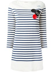Marc By Marc Jacobs Patched Breton Stripe Dress Neutrals