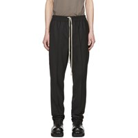 Rick Owens Black Drawstring Slim Astaires Long Trousers