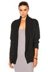 Enza Costa Cocoon Cardigan In Gray