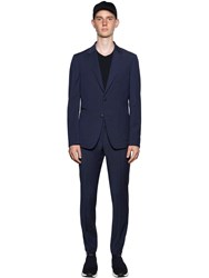 Z Zegna Slim Fit Techmerino Wool Wash'n Go Suit Blue