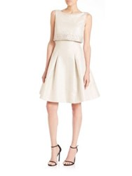 Pamella Pamella Roland Beaded Lurex Jacquard Party Dress