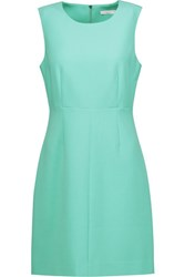 Diane Von Furstenberg Carrie Stretch Crepe Mini Dress Mint