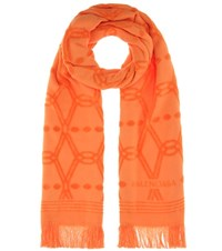 Balenciaga Cotton Scarf Orange