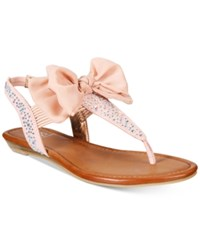Material Girl Swan Flat Thong Sandals Only At Macy's Women's Shoes Blush