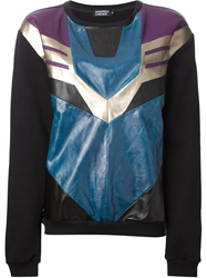 Andrea Crews 'Megatron' Patchwork Sweatshirt Black