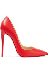 Christian Louboutin So Kate 120 Leather Pumps Red