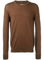 Maison Martin Margiela Crew Neck Jumper Brown