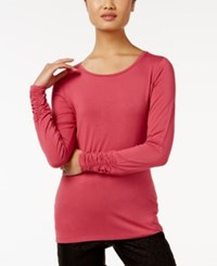 Alfani Long Sleeve Ruched Top Only At Macy's Anything Rose