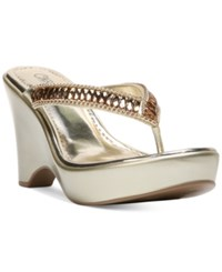 Carlos By Carlos Santana Karson Wedge Sandals Women's Shoes Platino
