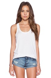 Candc California Double Banded Tank White
