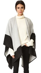 Rag And Bone Double Faced Wrap Scarf Grey