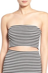 Women's Missguided Stripe Bandeau Crop Top